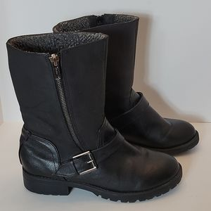 Mossimo Faux Leather Moto Boots